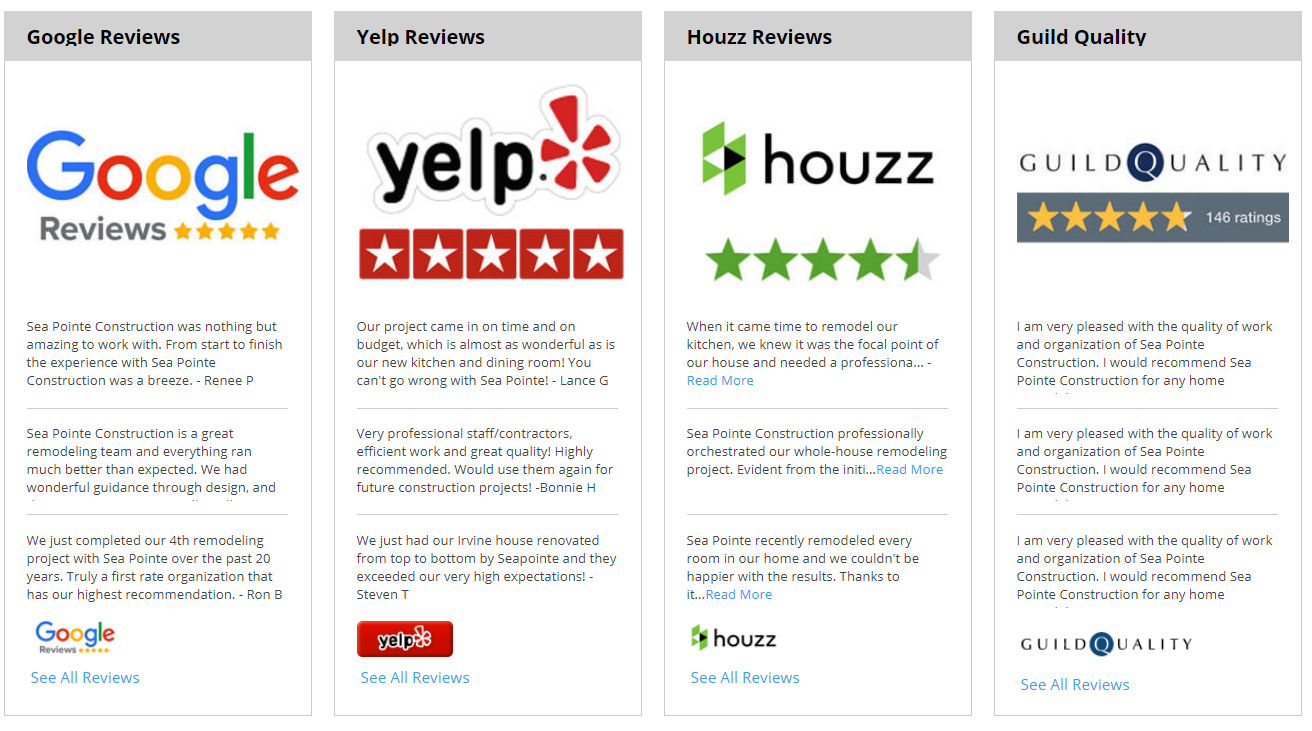 Customer reviews provide social proof